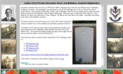 Alexander Arnot's World War 1 Letters